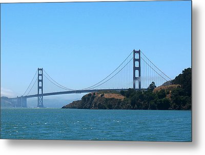 Marin County View Of The Golden Gate Bridge Metal Print by Connie Fox
