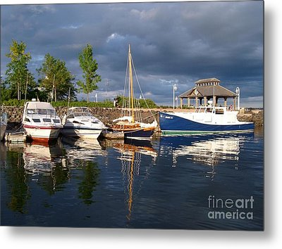 Marina At Charlottetown Prince Edward Island Metal Print by Joyce Gebauer