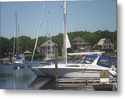 Metal Print featuring the photograph Marina At Woods Hole Ma by Suzanne Powers