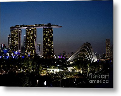 Marina Bay Skyline Metal Print by Ivy Ho