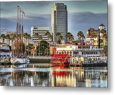Marina Before Sunset Metal Print by Pam Vick
