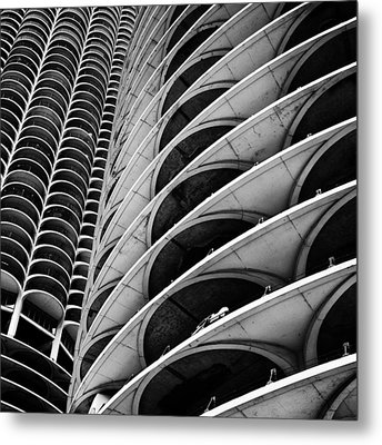 Marina City - Chicago 3 Metal Print by Niels Nielsen
