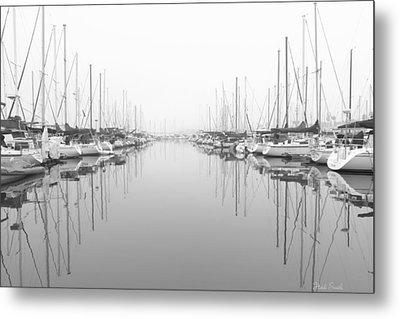 Metal Print featuring the photograph Marina - High Key by Heidi Smith