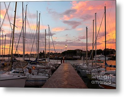 Marina In Desenzano Del Garda Sunrise Metal Print by Kiril Stanchev