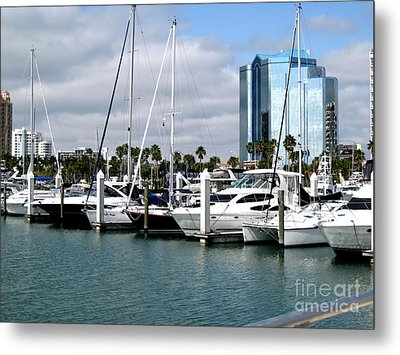 Metal Print featuring the photograph Marina In Sarasota by Oksana Semenchenko