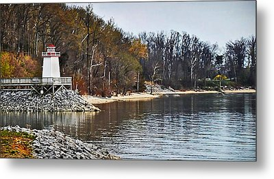Metal Print featuring the photograph Marina Inlet by Greg Jackson