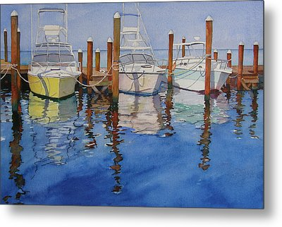 Marina Metal Print by Judy Mercer
