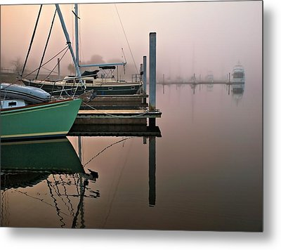 Metal Print featuring the photograph Marina Morning by Laura Ragland