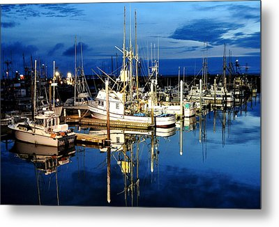 Marina Reflection Metal Print by Michael Bruce