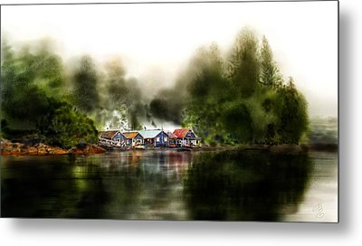 Marina Retreat Metal Print