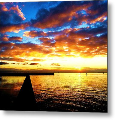 Metal Print featuring the photograph Marina Sunrise by John King