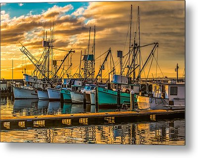 Marina Sunrise Metal Print by Thomas Hall