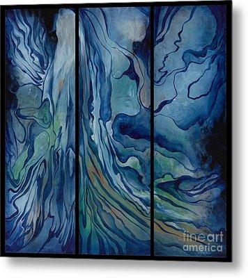 Marina Triptych Metal Print