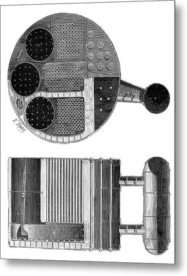 Marine Boiler Metal Print by Science Photo Library