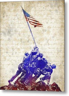 Marine Corps War Memorial Metal Print