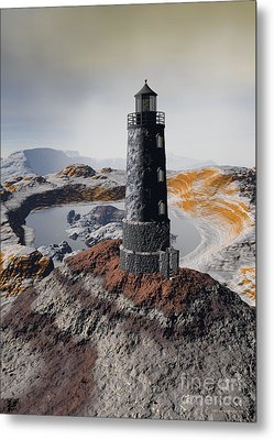 Metal Print featuring the digital art Marine Memory - Surrealism by Sipo Liimatainen
