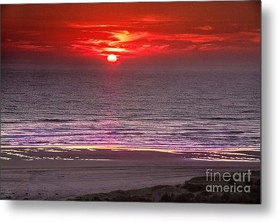 Marine Sunset Metal Print by Robert Bales