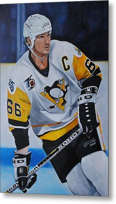 Mario Lemieux Metal Print by David Dunne
