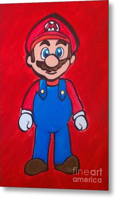 Metal Print featuring the painting Mario by Marisela Mungia