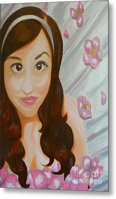 Metal Print featuring the painting Marisela by Marisela Mungia
