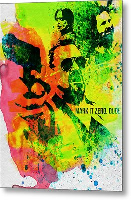 Mark It Zero Watercolor Metal Print by Naxart Studio