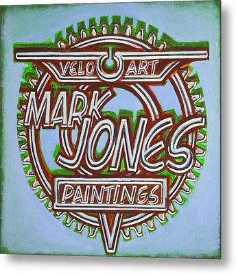 Metal Print featuring the painting Mark Jones Velo Art Painting Blue by Mark Howard Jones