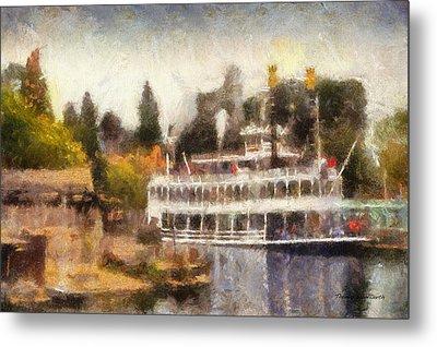 Mark Twain Riverboat Frontierland Disneyland Photo Art 02 Metal Print