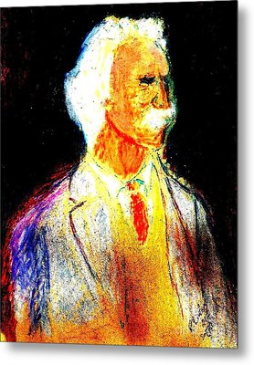 Mark Twains Yellow Vest 1 Metal Print