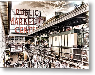 Market Center Metal Print