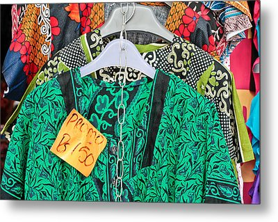 Market Clothes Metal Print by Tom Gowanlock