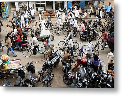 Market Clutter Metal Print by Money Sharma