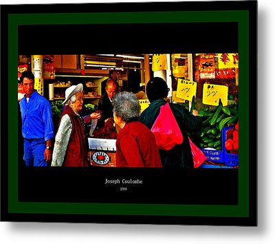 Market Day In Chinatown  Metal Print by Joseph Coulombe