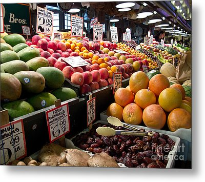Market Fresh Metal Print