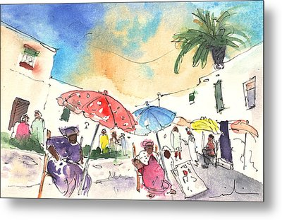Market In Teguise In Lanzarote 01 Metal Print