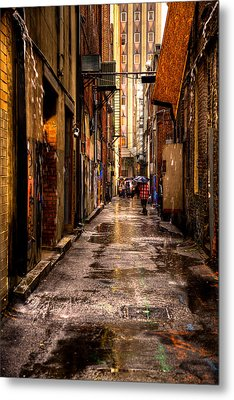 Market Square Alleyway - Knoxville Tennessee Metal Print by David Patterson