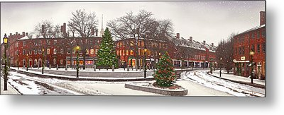 Market Square Christmas - 2013 Metal Print by John Brown
