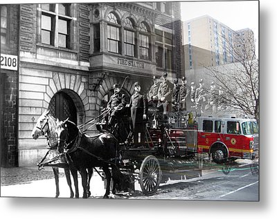 Market Street Fire Station Metal Print