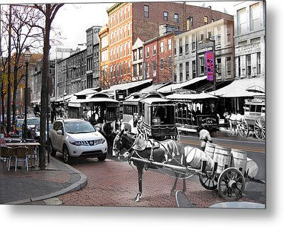 Market Street In Old City Metal Print by Eric Nagy
