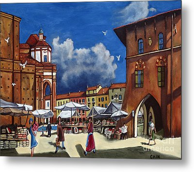 Marketplace Metal Print by William Cain