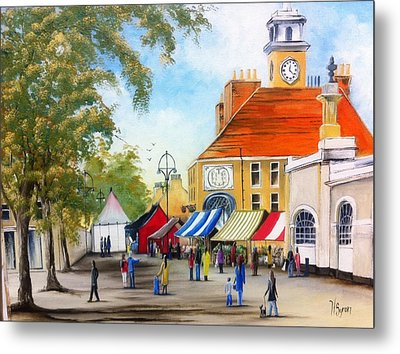 Markets On High Street Metal Print by Helen Syron