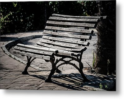 Mark's Bench Metal Print