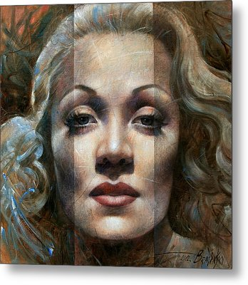 Marlene Dietrich Metal Print by Arthur Braginsky