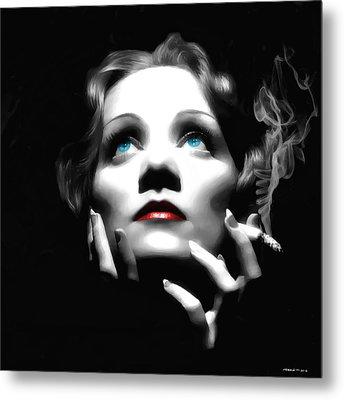 Marlene Dietrich Portrait Metal Print