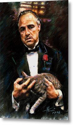 Marlon Brando The Godfather Metal Print by Viola El