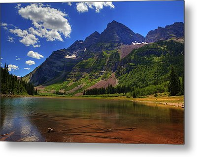 Metal Print featuring the photograph Maroon Bells by Alan Vance Ley