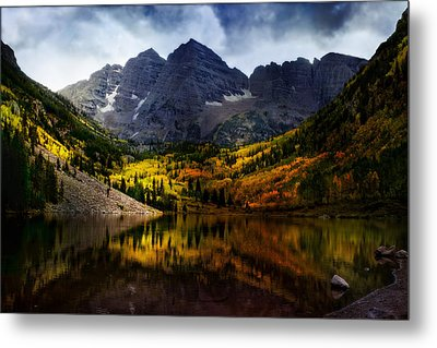 Metal Print featuring the photograph Maroon Bells - An American Icon by Ellen Heaverlo