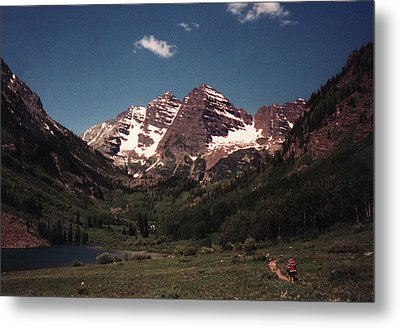 Metal Print featuring the photograph Maroon Bells  Colorado by Bill Woodstock