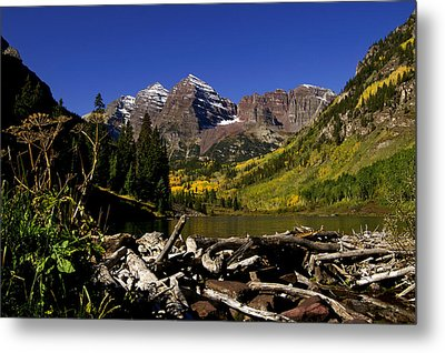Metal Print featuring the photograph Maroon Bells by Jeremy Rhoades
