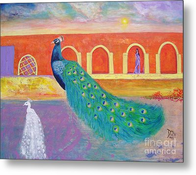 Metal Print featuring the painting Marrakesh Dreams  by Donna Dixon