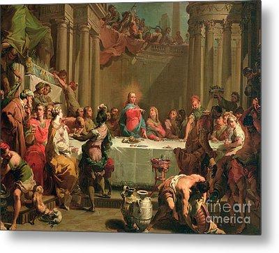 Marriage Feast At Cana Metal Print by Gaetano Gandolfi